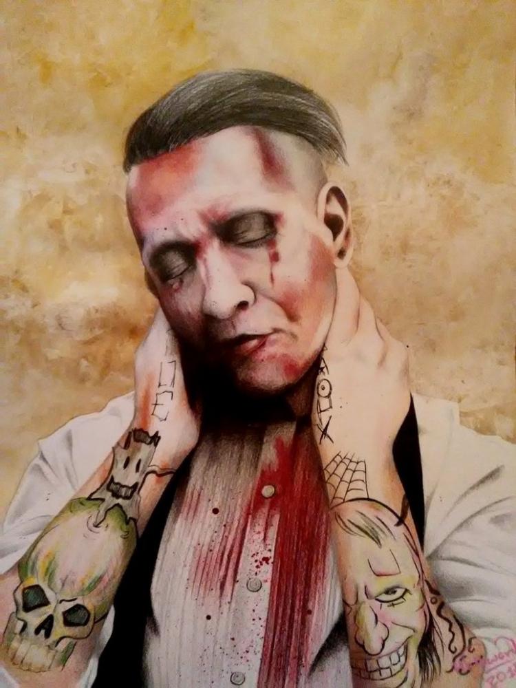 Marilyn Manson by Hallward